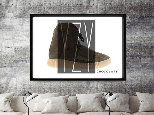 Yeezy Boost 750 Chocolate Custom Kicks Sneaker 12x18 Poster Art