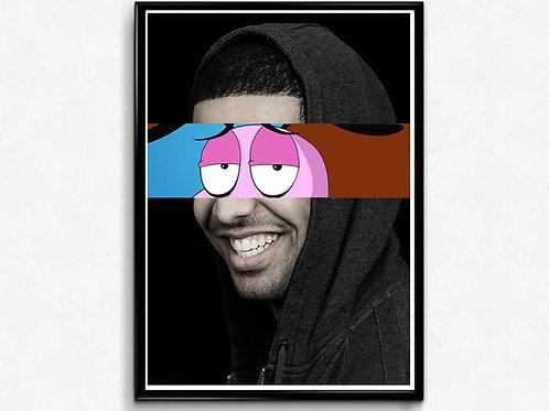 Drake Eyes Mixed Media Poster, Hypebeast Poster Print, Music Poster