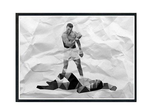 Muhammas Ali Poly Art Poster, Classic Sports Poster