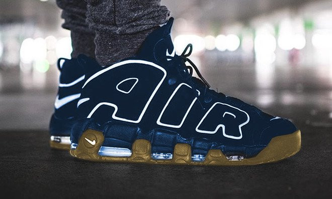 nike air more uptempo obsidian/gum