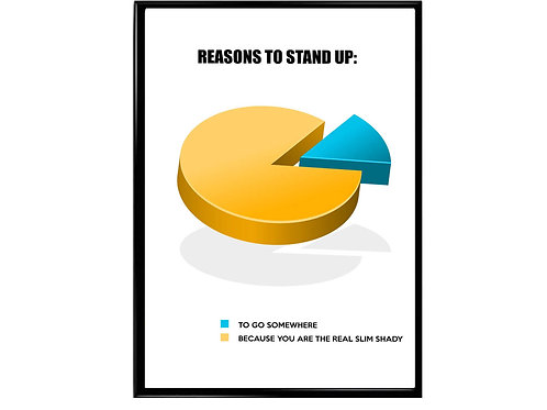 The Real Slim Shady Pie Chart Poster, Music Poster, Rap Poster