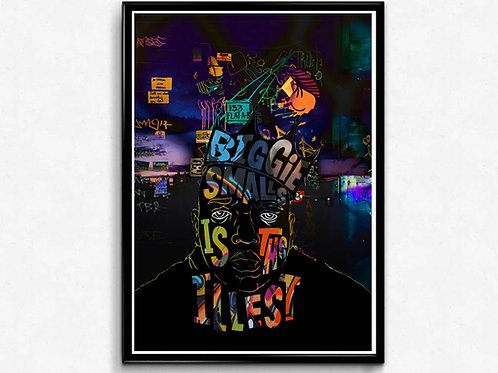 Notorious Big Abstract Poster, Graffiti Art Poster, Hypebeast Wall Art