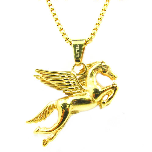 Pegasus 14k Gold Over Stainless Steal Mini Piece