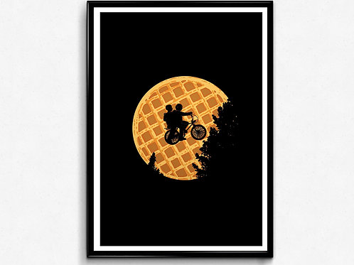 Stranger Things Waffle Sky Alternative Poster, Movie Poster, Wall Art Home Dec