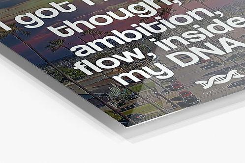 Hustle Inside My DNA Metal Poster, Kendrick Lamar Lyrics Aluminum Wall Art