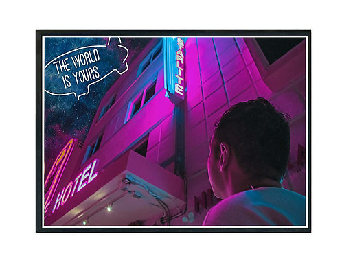 The World is Yours Miami Night II Hypebeast Poster Printable