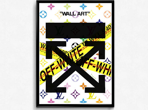 Modern Wall Art Poster, Pop Culture Poster Art, Hypebeast Posters, Off White Sty