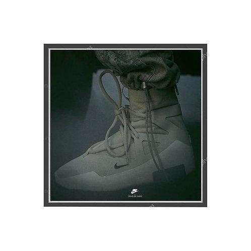 Fear of God x Nike Gray Poster, Hypebeast Poster Pop Culture Sneaker Wall Art