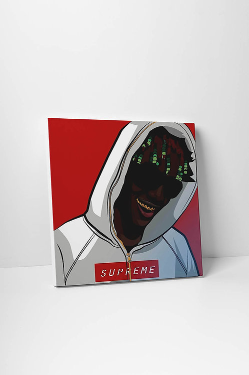 Lil Yachty x Supreme Drawing Canvas Art Modern Pop Art Poster Pop Culture Art