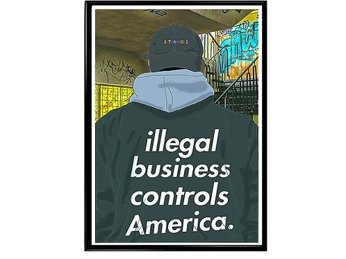 Illigal Business Graffiti Sneaker Poster, Hypebeast Poster, Modern Pop Art