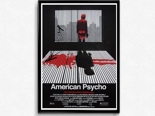 American Psycho Style Movie Poster, Classic Movie Poster, Pop Culture Poster Art