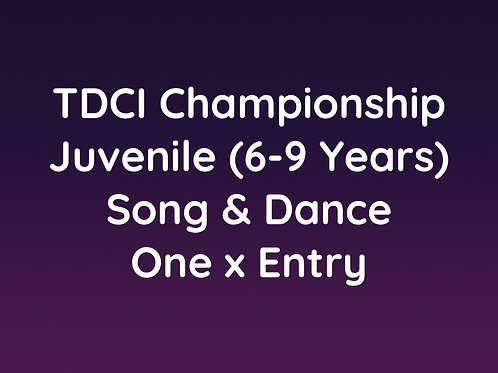 Juvenile Song & Dance (6-9 Years)