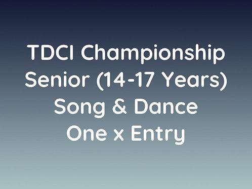 Senior Song & Dance (14-17 Years)
