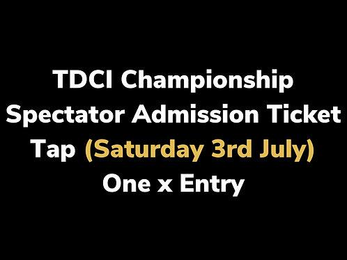 Tap Spectator Admission (Max 2)