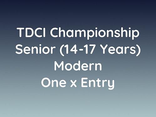 Senior Modern (14-17 Years)