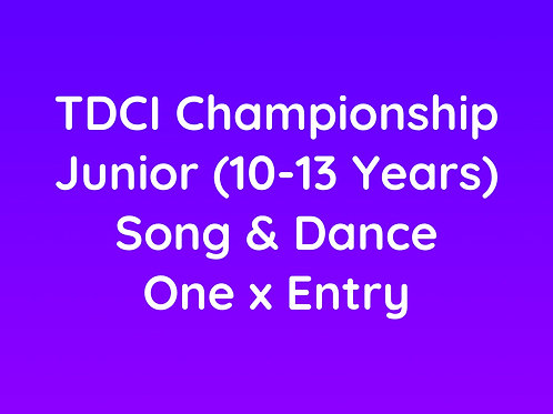 Junior Song & Dance (10-13 Years)