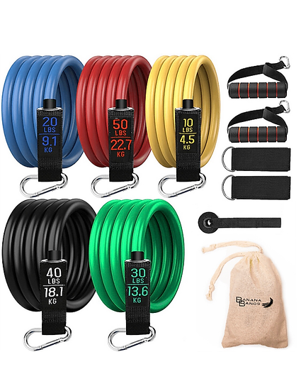 Resistance Band Set - 11 Pieces - 150lbs