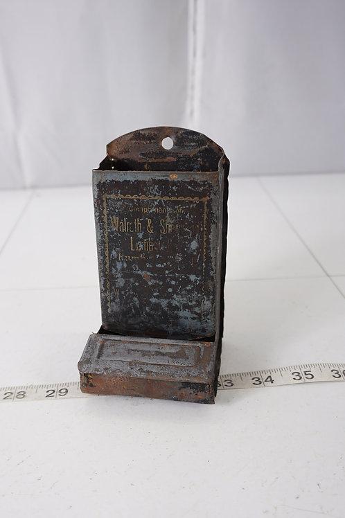Advertising Tin Match Box Holder