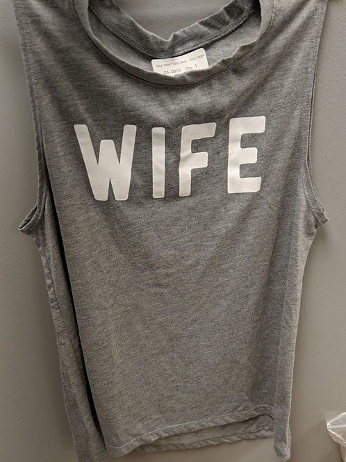 "Gray ""Wife"" Tank - Size Lg."