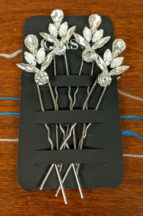 Silver & Rhinestone Hair Pins