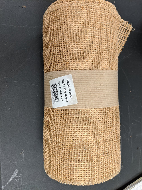 "9"" x 10yds Burlap Table Runner"