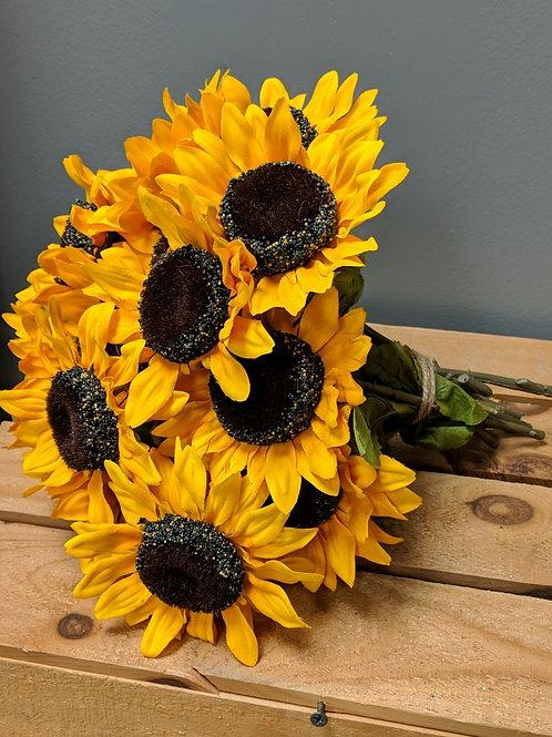 Set of 19 Single Stem Sunflowers