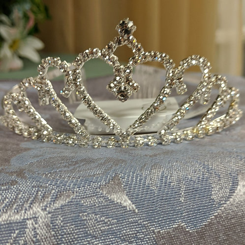 Icing Heart Jeweled Tiara