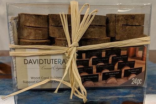 David Tutera 24pc Wood Card Holders