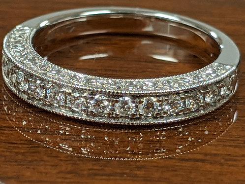 14k White Gold Custom Diamond Band