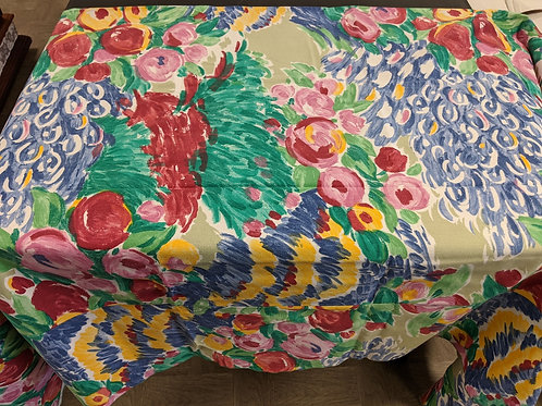 "72"" Square Floral Tablecloths"