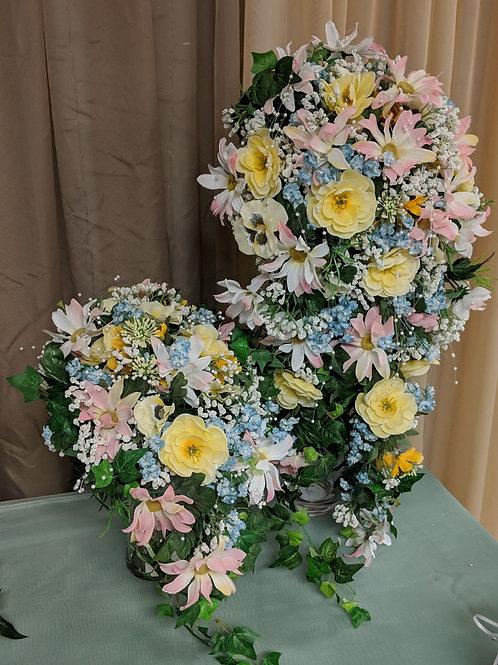 Cascading Floral Bouquet Set