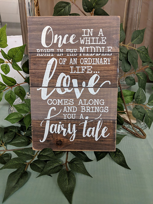 Wood Tabletop Fairytale Sign