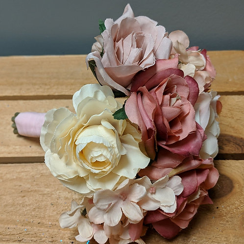 Small Pink & Ivory Toss Bouquet