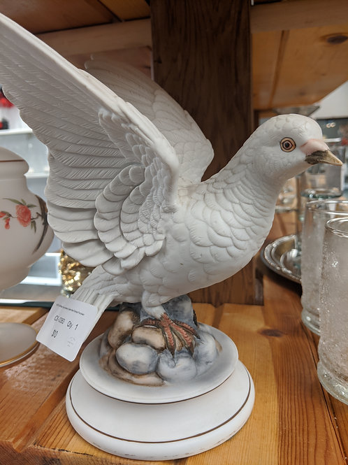 Hand Painted Andrea White Dove