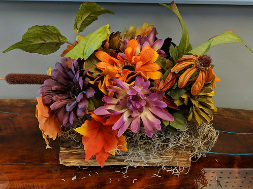 Raw Wood Floral Centerpieces