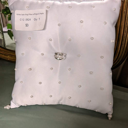White Satin Ring Pillow