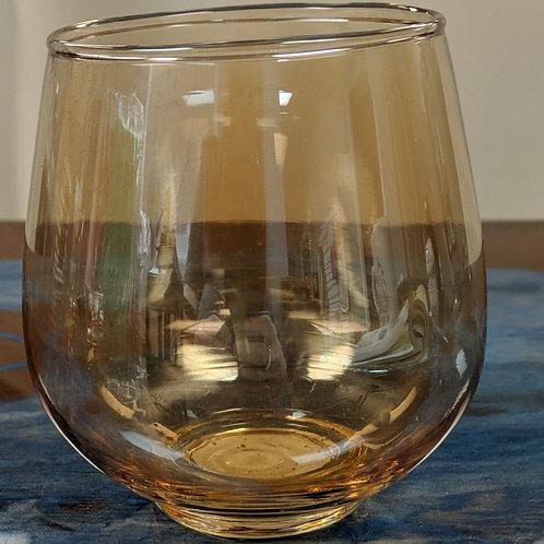 Set of 2 - Gold Tinted Glass Votive Holder
