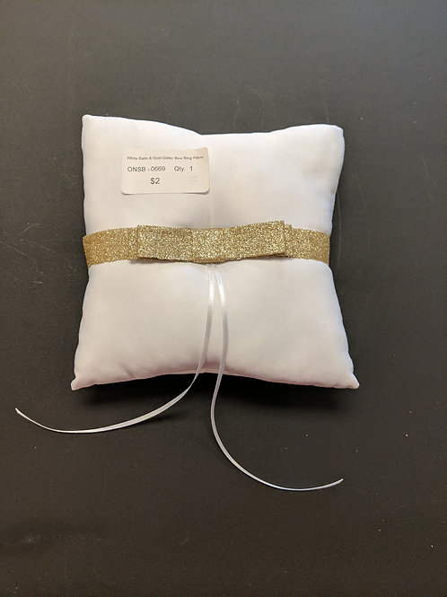 White & Gold Ring Pillow