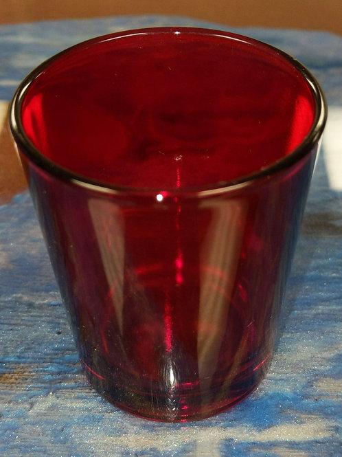 209 Red Glass Votive Holder