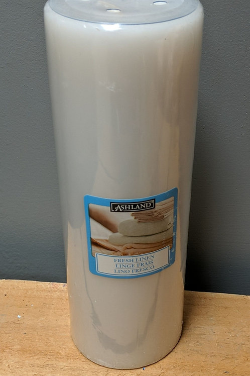 "Ashland ""Fresh Linen"" Scent 8"" Pillar Candle"