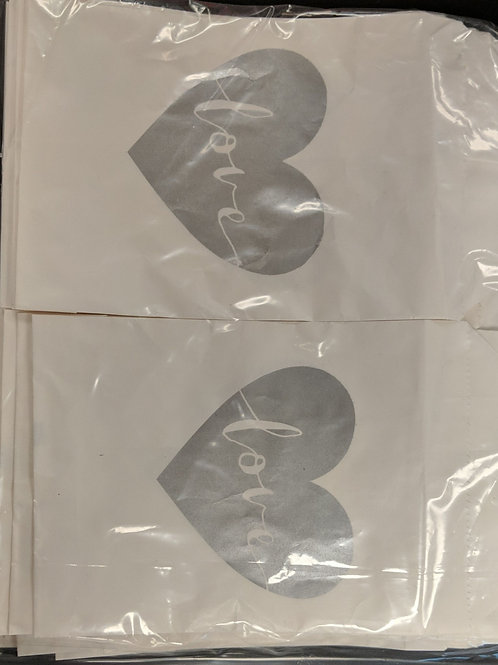 Paper, Silver Heart Love Bags (75)