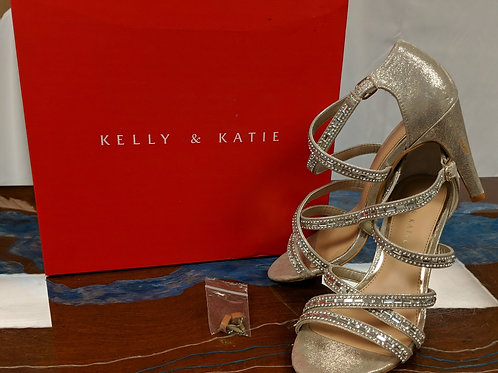 Kelly & Katie Gold Heels