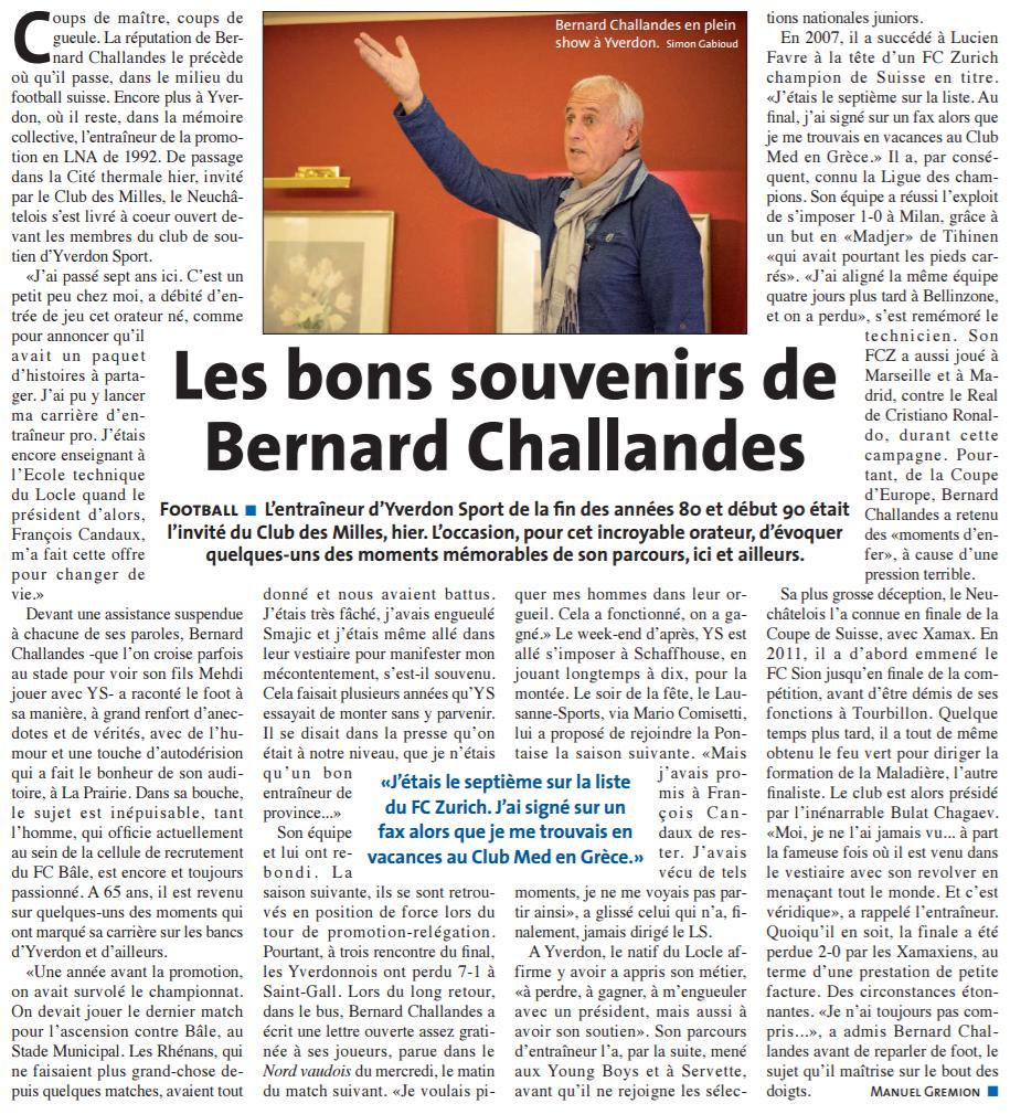 2016.11 - Bernard Challandes