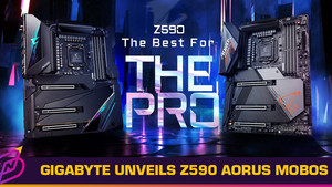 GIGABYTE Unveils New Z590 AORUS Motherboards