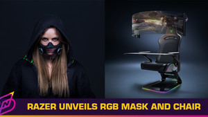 "Razer CES 2021 Concepts: Smart Mask, Gaming Chair with Retractable 60"" Display"