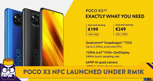 POCO Introduces X3 NFC Smartphone for Under RM1,000