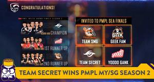 Team Secret Emerge as Champions of PMPL MY/SG Season 2