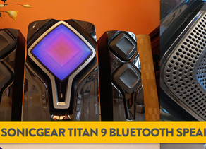 [Review] Feel the Ground Tremble: The SonicGear Titan 9 Stereo Bluetooth Speaker System