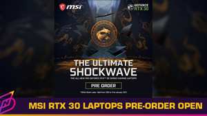 MSI RTX 30 Series Laptops Now Available for Pre-Order until 31 Jan