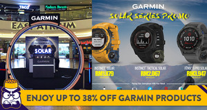 Enjoy up to 38% Off Garmin Products at Their Malaysia Day Roadshow in Mid Valley